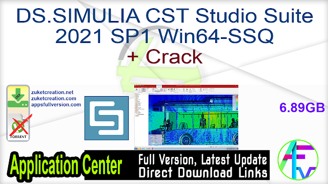 DS.SIMULIA CST Studio Suite 2021 SP1 Win64-SSQ + Crack