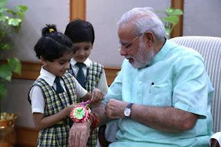 Happy Rakhi Images | Happy Rakhi Narendra Photos with PM Narendra Modi