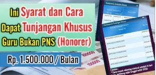 Tunjangan Khusus Guru Bukan PNS (Honorer)
