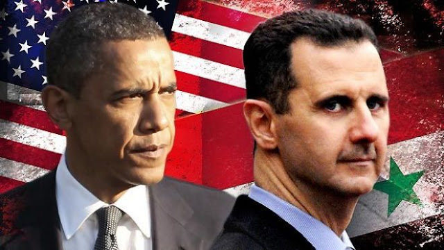 Obama vs Bashar Assad (foto cloudfront.net)