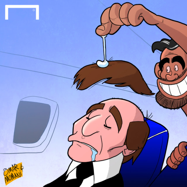 Diego Costa, Antonio Conte cartoon