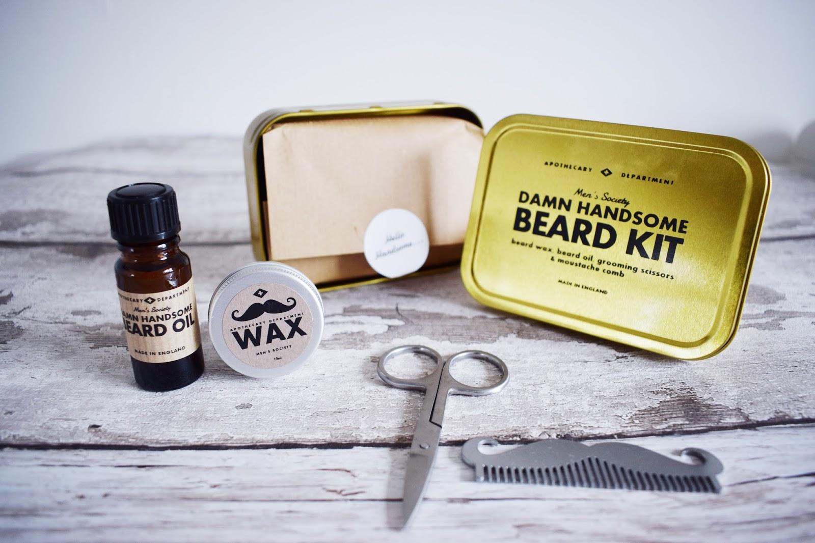 Men's Society Damn Handsome Beard Kit
