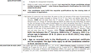 WBCS Eligibility Criteria Educational Qualifications Age