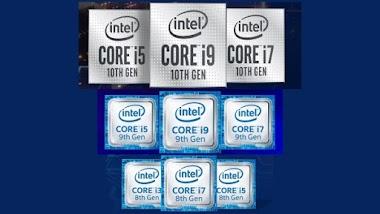 Tabel Perbandingan Intel Core Generasi 8 - 10 Core i3 i5 i7 & i9