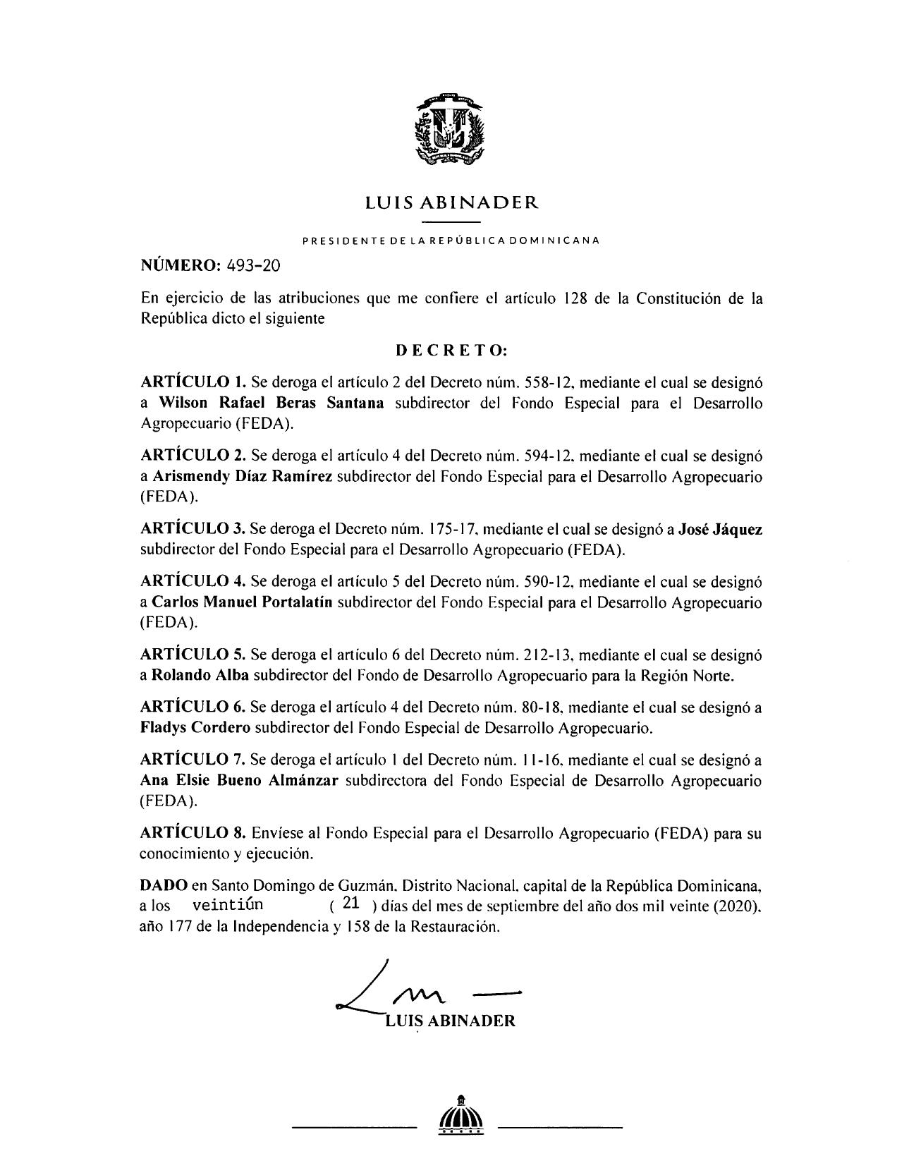 decreto 493-20