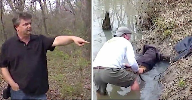 Мужчина собирается спасти огромного бобра, застрявшего в реке – приглядывается и понимает нечто невероятное