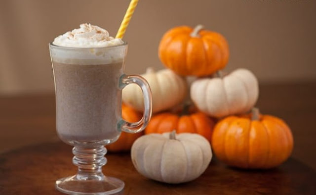 Pumpkin White Hot Chocolate #drinks #hotchocolate