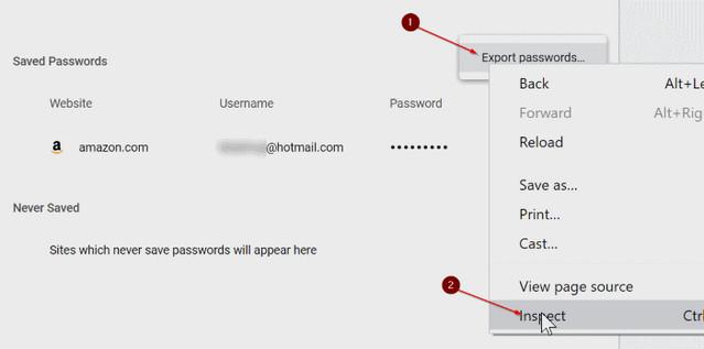 كيفية استيراد كلمات المرور في متصفح جوجل كروم من ملف CSV