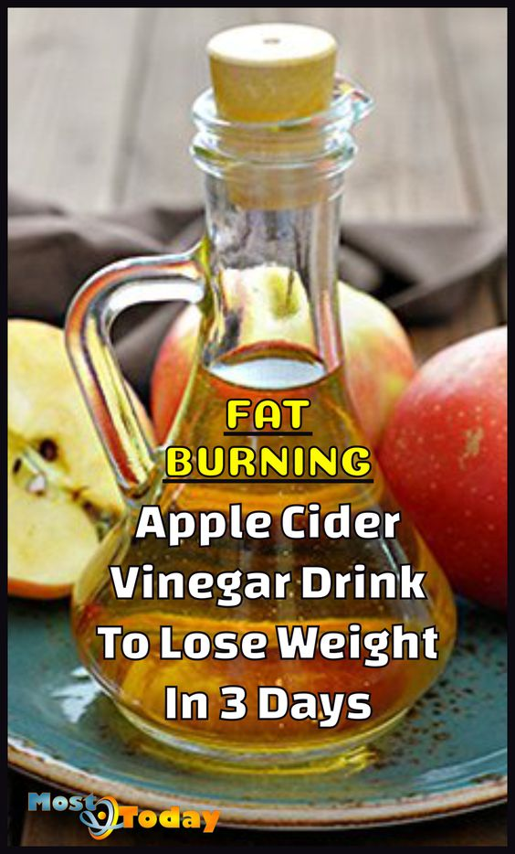 Fat Burning Apple Cider Vinegar Drink To Lose Weight In 3