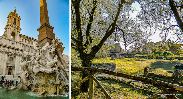 Roma: Piazza Navona e Monte Palatino