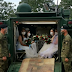 This wedding ceremony of Philippine soldiers is a bit more fire power!