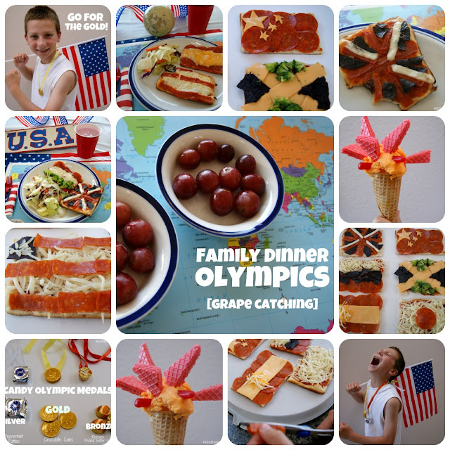 Easy and Quick Olympics Dinner idea with grape catching @michellepaigeblogs.com