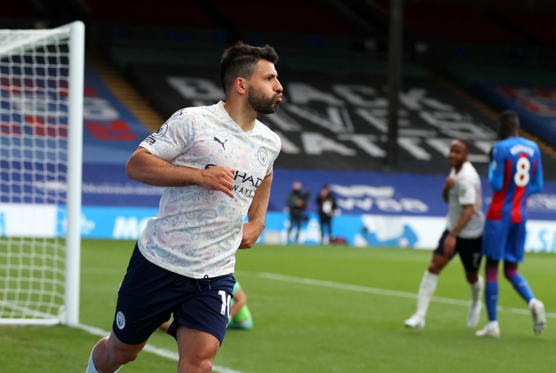 Con un golazo del Kun Agüero, Manchester City venció al Crystal Palace y se acerca al título