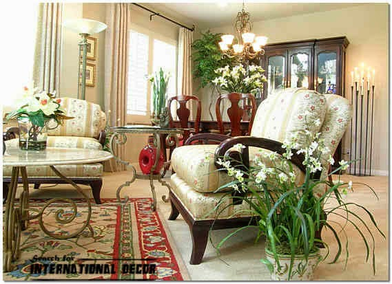 Decorative Indoor Plants In The Interior Of Apartments And