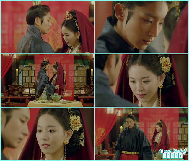 Wang so and yeon hwa first night he left her in the room after taking the veil - Scarlet Heart Ryeo - Episode 18 (Eng Sub)