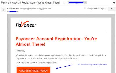 langkah cara membuat Payoneer dan mendapatkan kartu Prepaid Master Card