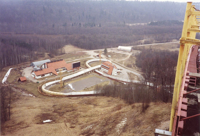28 марта 1991 года. Сигулда. Санно-бобслейная трасса (фото из архива: Martin Hinge)
