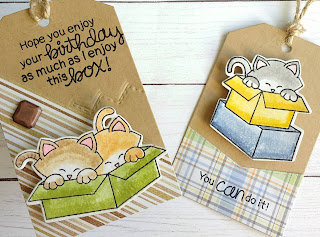 Kitty Tags a Tag by Diane Morales | Newton Loves Boxes Stamp Set by Newtons Nook Designs