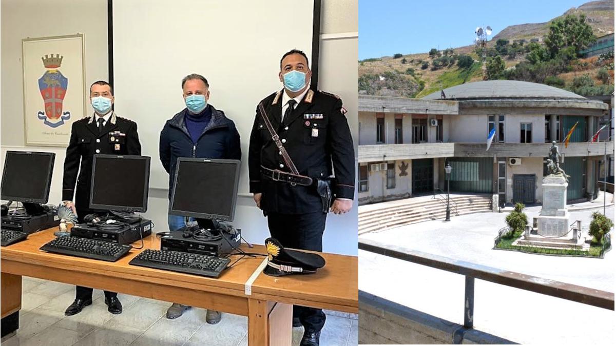 Palagonia Carabinieri refurtiva biblioteca comunale