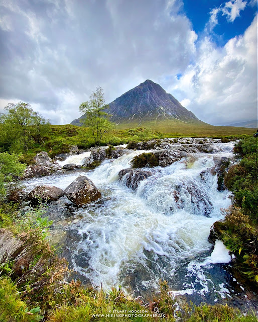 Etive Mòr Waterfall Buachaille where is it map location photo photography Glencoe