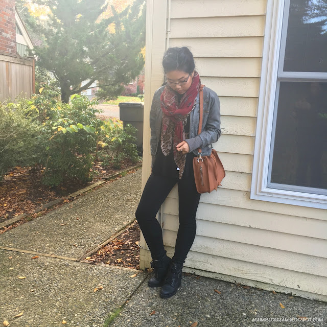 Statement scarf outfit Gamiss Review - Andrea Tiffany A Glimpse of Glam