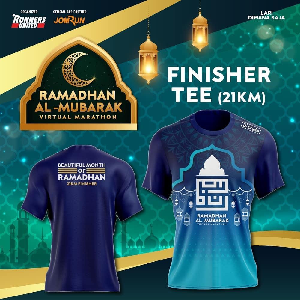 Tee 21K 👕 Ramadhan Al-Mubarak Virtual Marathon • 2021