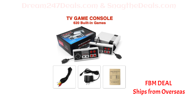 80%  off Plug & Play Classic Game Console Built-in 620 Classic Game
