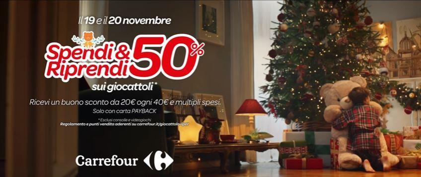 Canzone Carrefour pubblicità Natale con bambino che abbraccia un orsacchiotto - Musica spot Novembre 2016