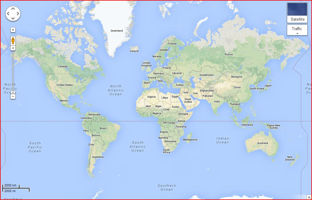 google karta sveta Travel with Kevin and Ruth!: What's wrong with this map? google karta sveta