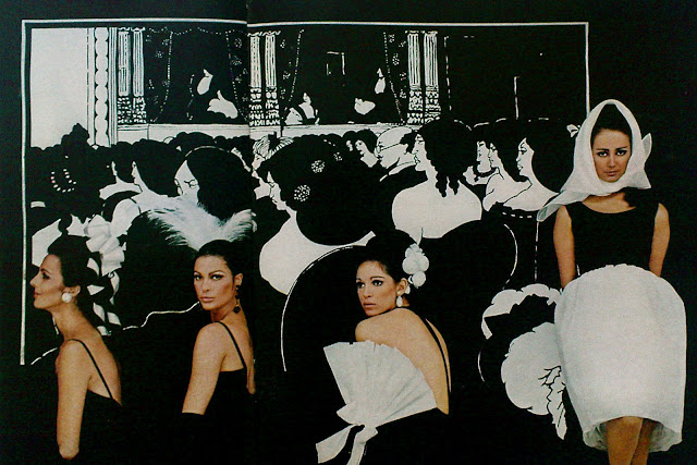 1960s Aubrey Beardsley black and white Fashion