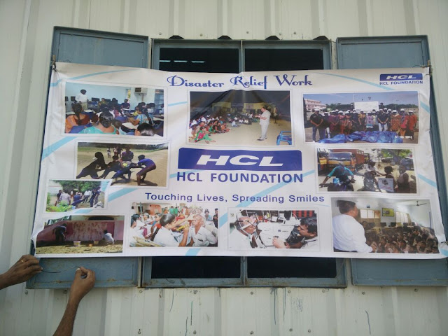 HCL Foundation organised a Cyclone Relief Distribution Drive in Semmencherry, Chennai