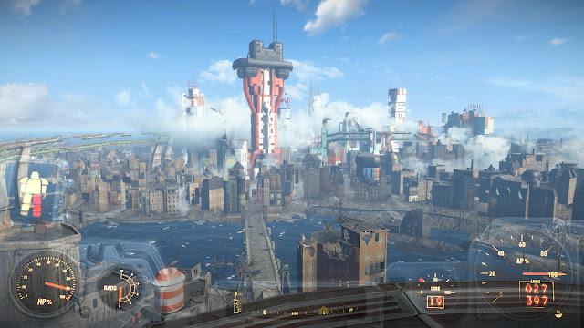 Screenshot of Boston from Fallout 4