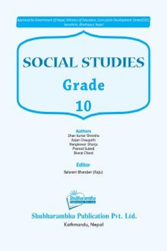 Grade 10 Social Studies textbook English medium