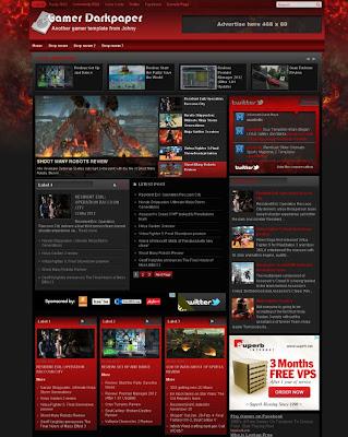 Free Download 2 Super Magazine Template Blogger ~ FREE