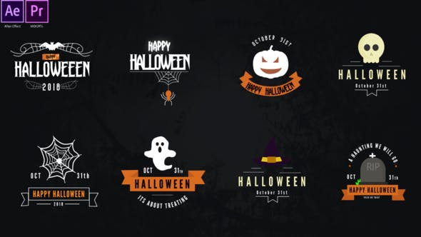 Videohive - Halloween Titles Pack 28847017