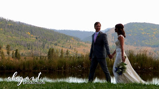 Bride & Groom at Strawberry Creek Ranch, Granby Wedding Videographer