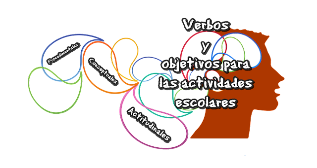 Verbos y objetivos para las actividades escolares