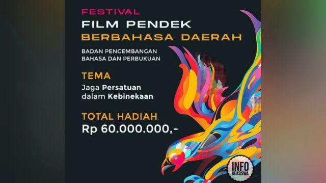 Berhadiah Total 60 Juta, Kemendikbud RI Gelar Festival Film Pendek Berbahasa Daerah