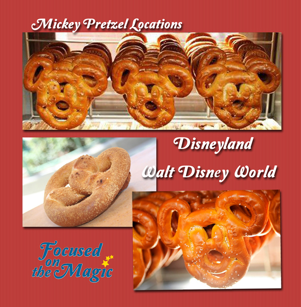 Soft pretzel at Disneyland Resort and Walt Disney World Resort.