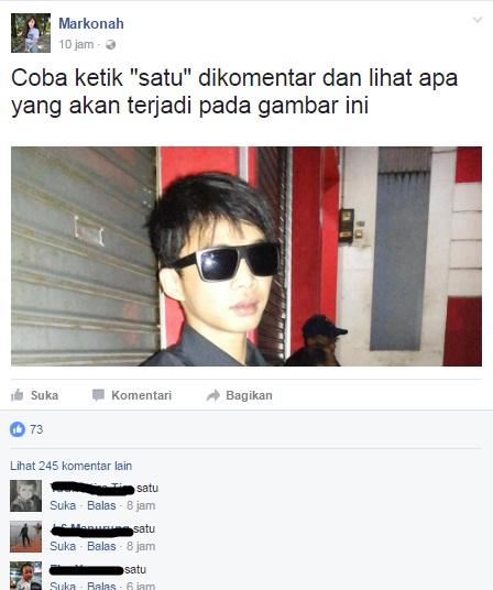 status facebook ketik satu