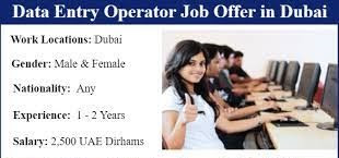 Data Entry Operator Jobs Recruitment in Courier Industry Dubai