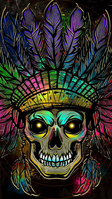 21 Mesh, Metal Skull, Dark Blue Skull Art Ultra HD Wallpapers 4K for iPhone and Android