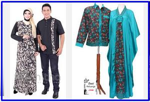 Foto gambar busana baju lebaran couple murah trend pasangan serasi