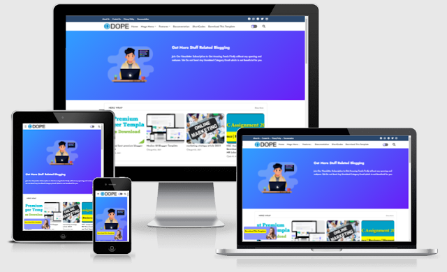 Dope Free blogger template download
