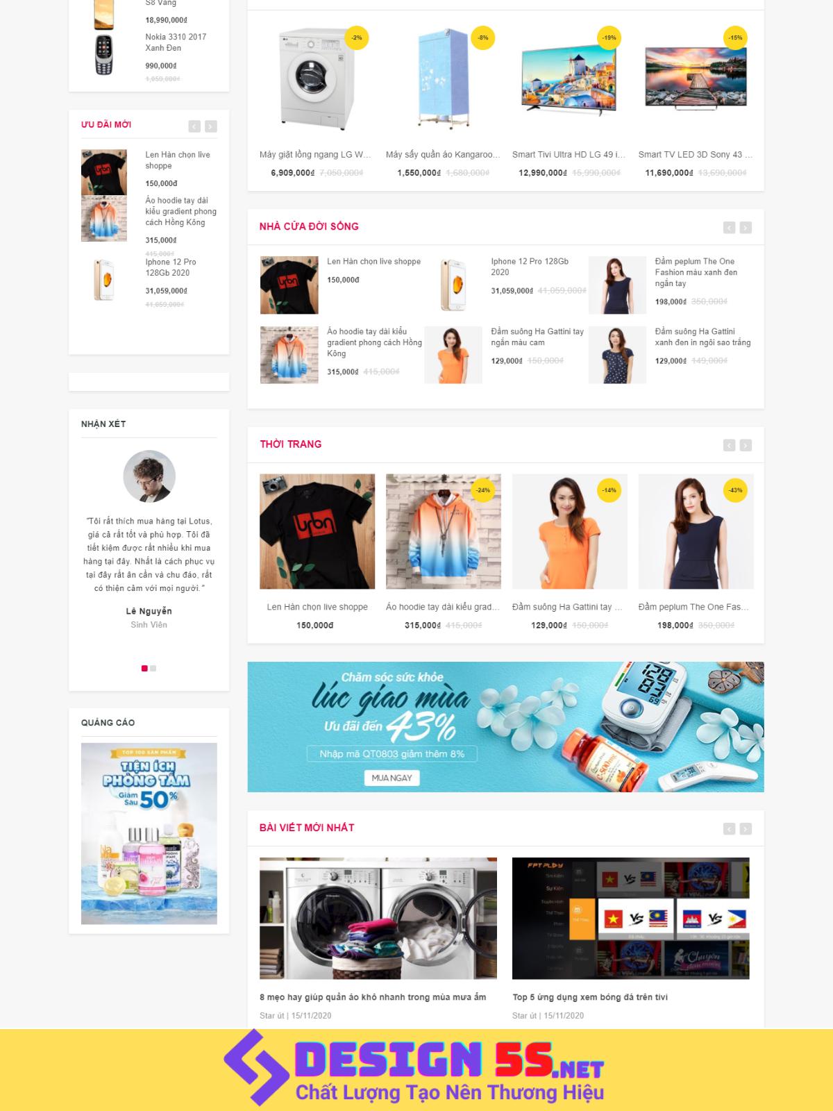 Template Blogspot Điện Máy Kết Hợp Affiliate, VSM94 - Ảnh 2