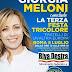 Alla  terza festa tricolore di Riva Destra Giorgia Meloni rilancia il progetto politico  plurale  di Fratelli d'Italia