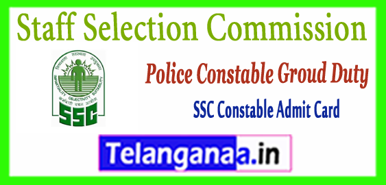 SSC Staff Selection Commission Constable GD PET Result Merit List 2018 Written Admit Card