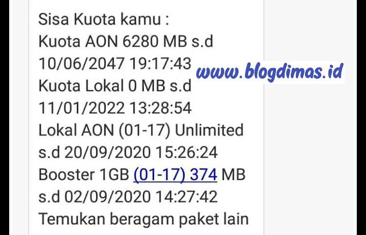 Kuota Lokal AON Unlimited