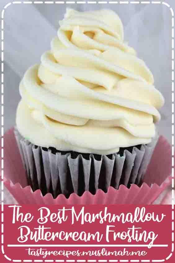 The Best Marshmallow Buttercream Frosting