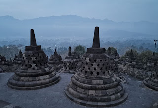Indonesia, Isla de Java, Borobudur.